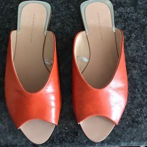 Fun orange Zara sandals/slides